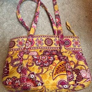 Vera Bradley yellow and pink paisley purse